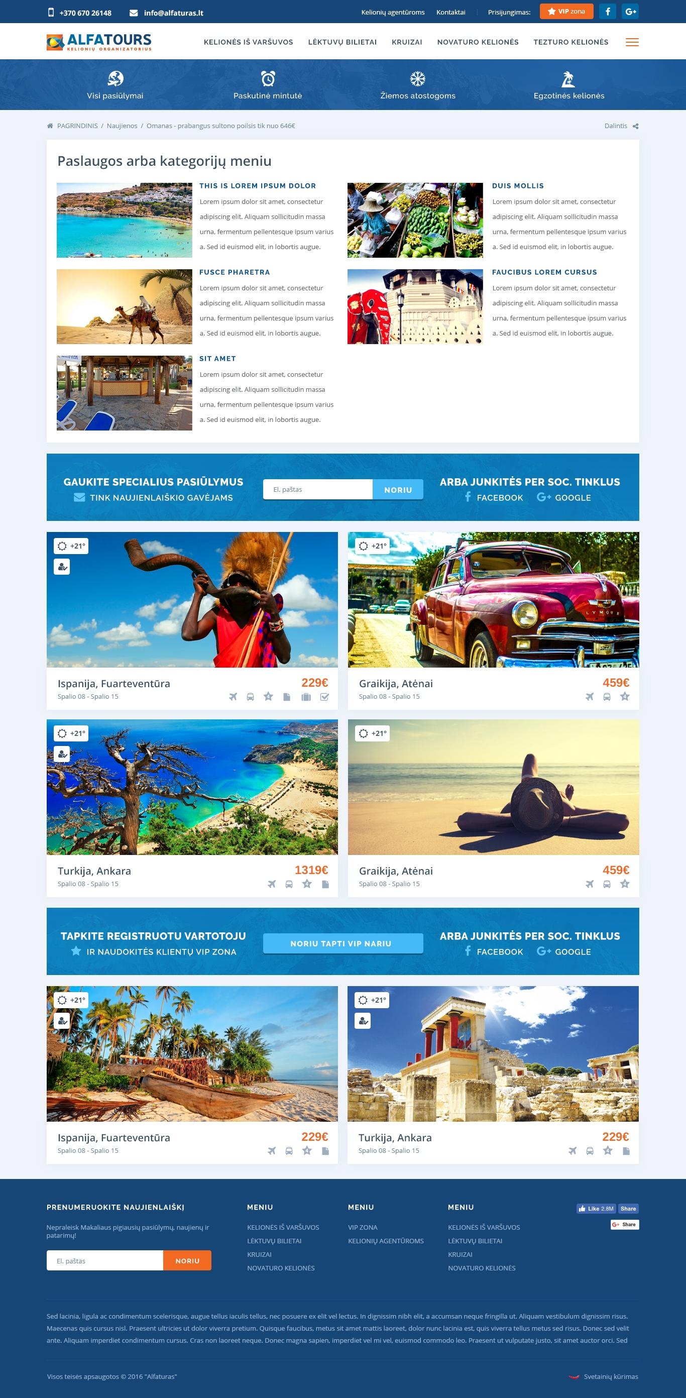 Alfaturas/Travel portal