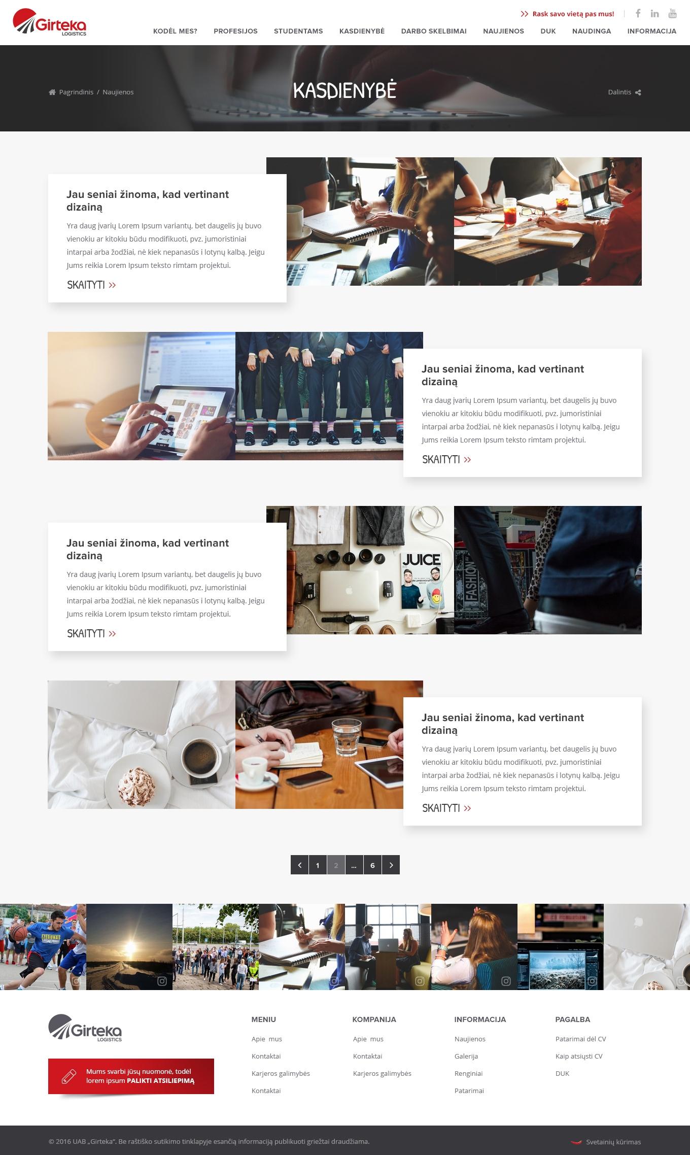 Įvairių interneto projektų kūrimas