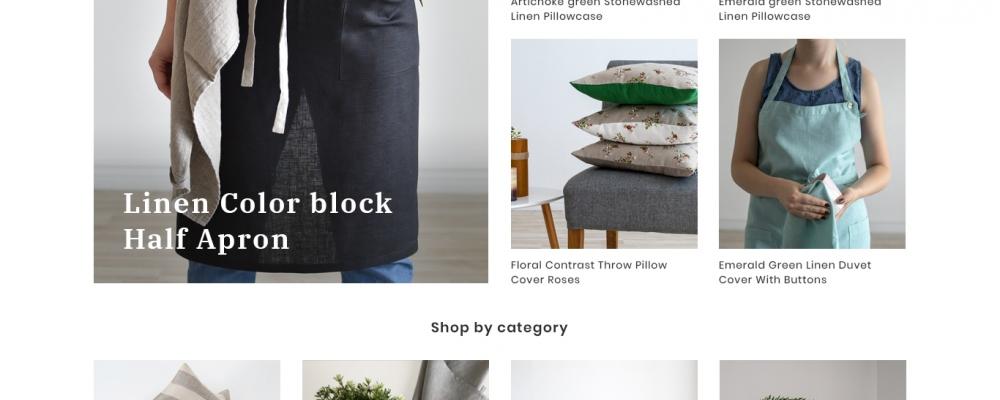 Linen boutique/ Elektroninė parduotuvė