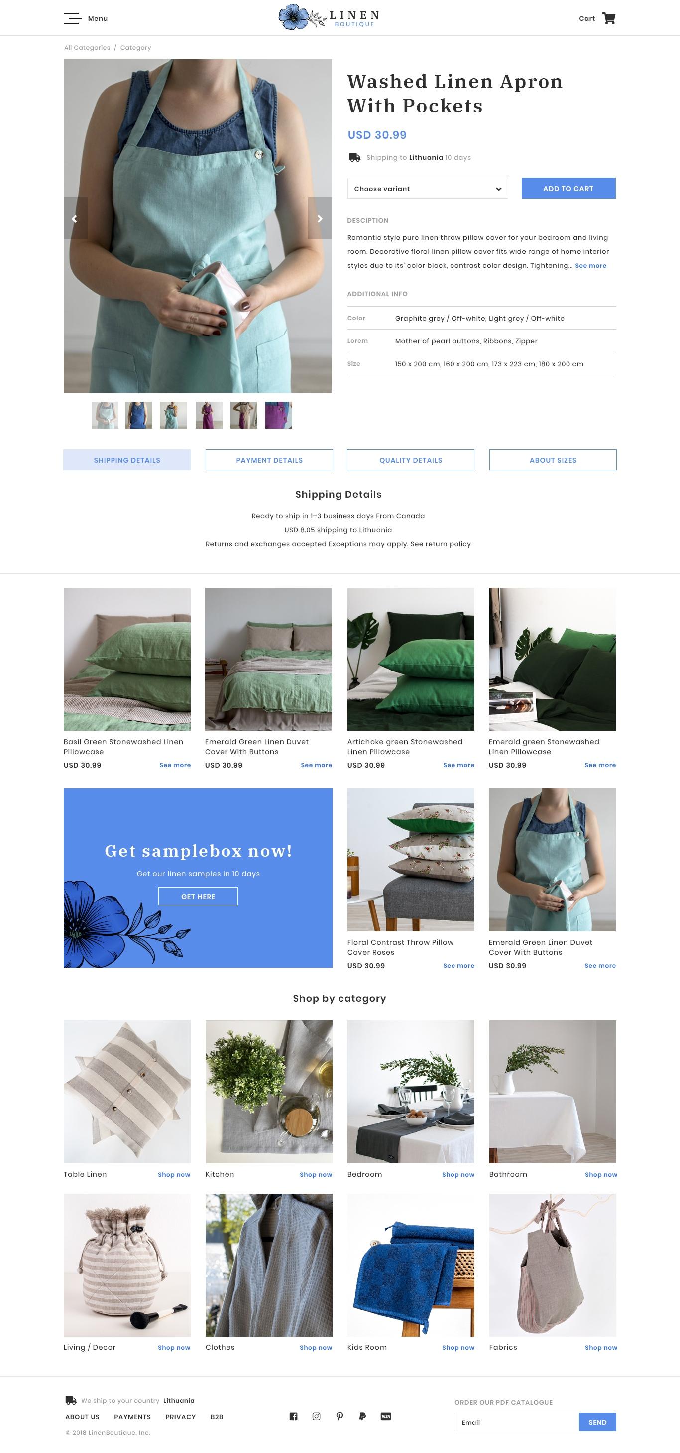 Linen boutique/ Eshop