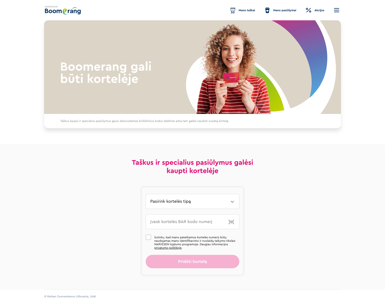 Narvesen Boomerang/B2C affiliate platform