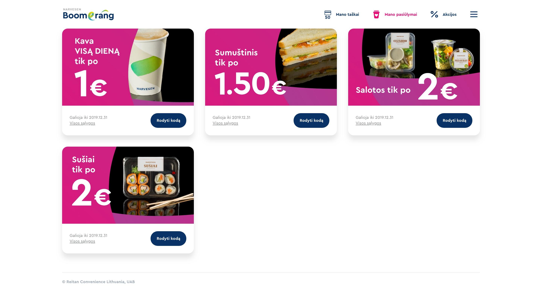 Narvesen Boomerang/B2C platforma